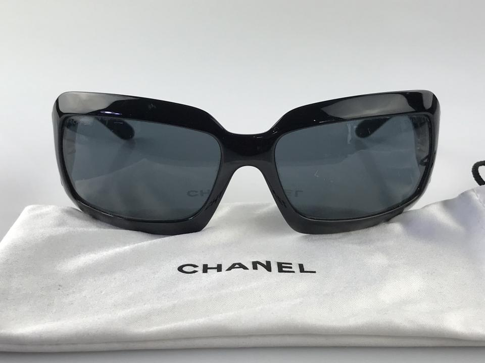 baace49b6a Chanel Black Cc Logo Mother Of Pearl Sunglasses - Tradesy