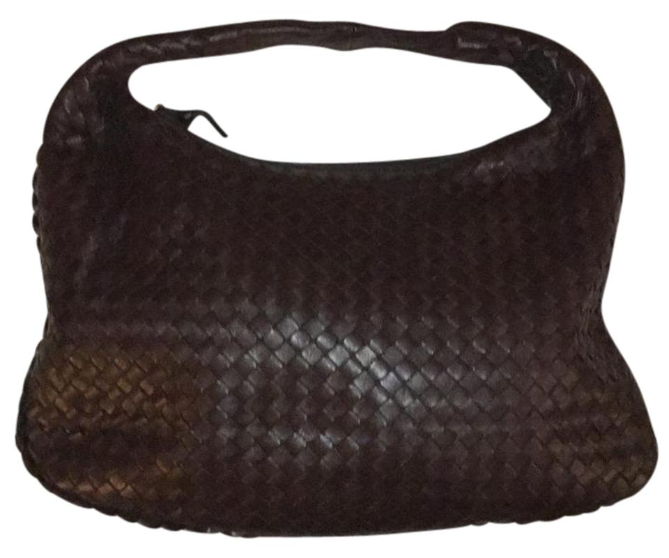 adf7b0108bd1 Bottega Veneta Medium Dark Brown - Ebano Leather Hobo Bag - Tradesy