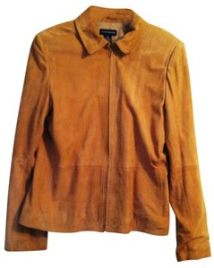 Ann Taylor tan suede Leather Jacket