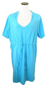 Jessica London short dress turquoise blue Hooded Sundress Size 24 Plus-size Hoodie on Tradesy