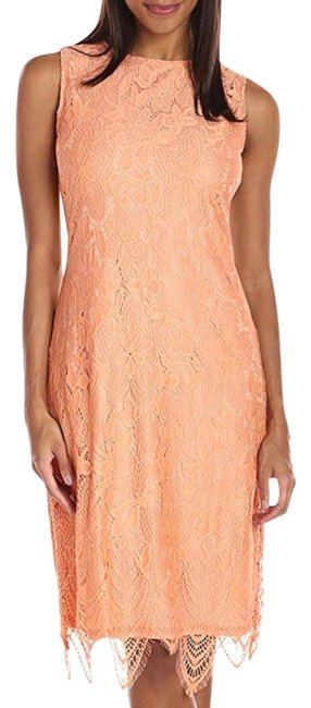 Preload https://img-static.tradesy.com/item/21849751/sharagano-orange-coral-creamsicle-sleeveless-lace-mid-length-cocktail-dress-size-8-m-0-1-650-650.jpg