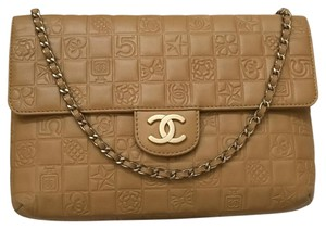 Chanel Classic Double Flap Charms Caramel Shoulder Bag