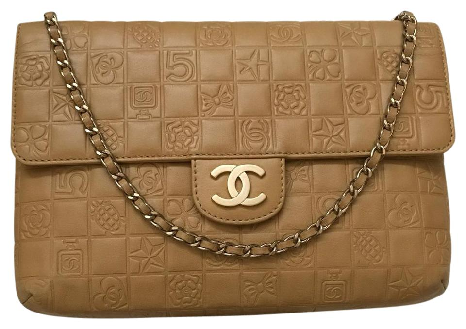 3a62b7b868c8 Chanel Classic Double Flap Limited Charms In Caramel Tan Lambskin Leather  Shoulder Bag