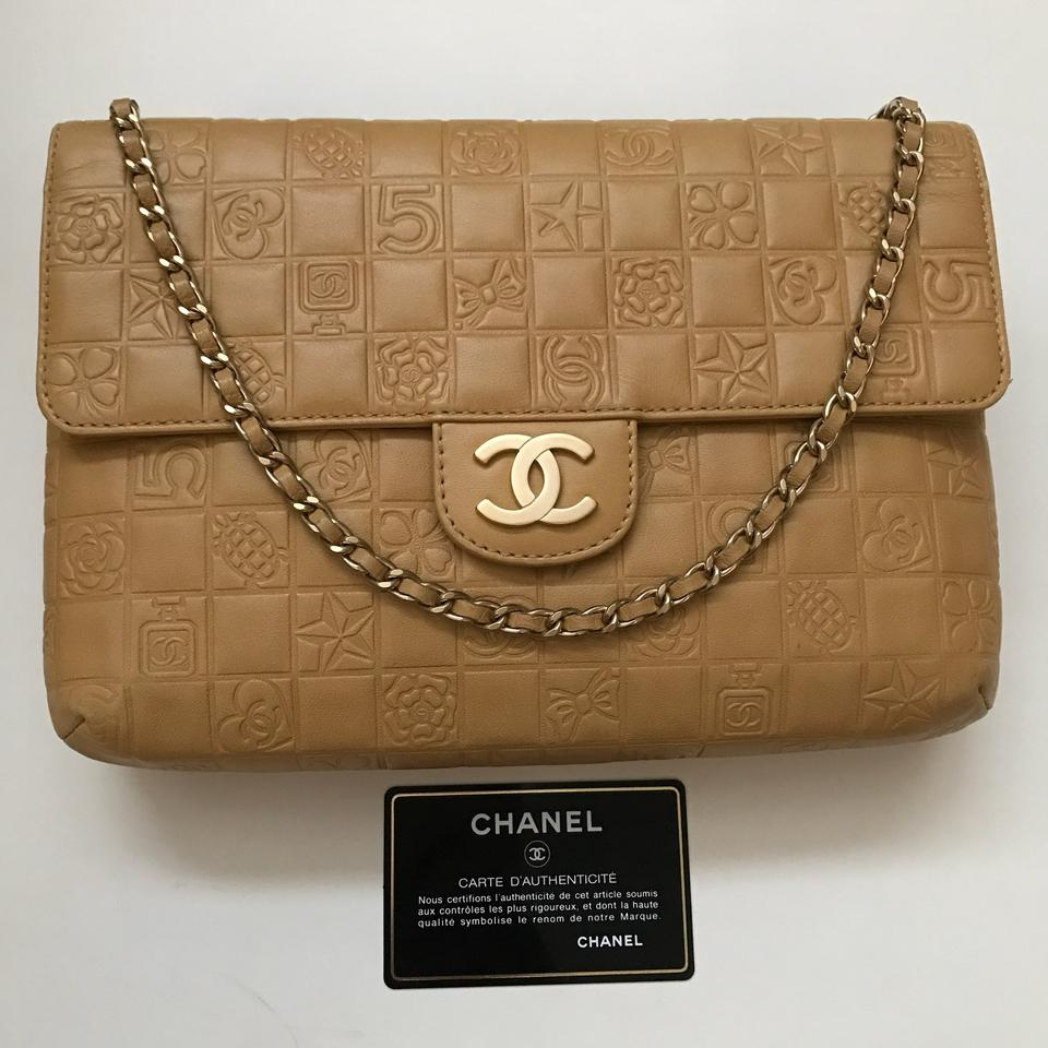 0405f160e4e7 Chanel Classic Double Flap Limited Charms In Caramel Tan Lambskin Leather  Shoulder Bag