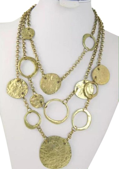 Preload https://img-static.tradesy.com/item/21849937/gold-tone-3-tier-rolo-planished-en-esclavage-hammered-disc-necklace-0-2-540-540.jpg