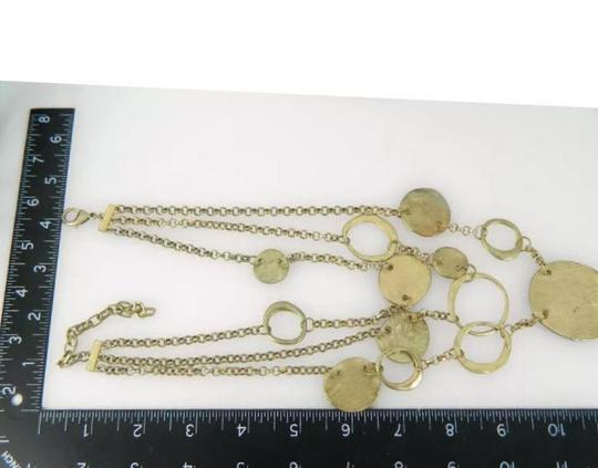 Other Gold Tone 3 Tier Hammered Disc Necklace Image 1