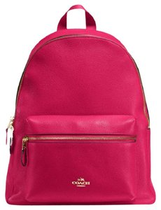 22c9764982fd Added to Shopping Bag. Coach Michael Kors Jet Set Crossbody Floral  Perforated Backpack. Coach Charlie F 38288 58314 Bright Pink Leather  Backpack