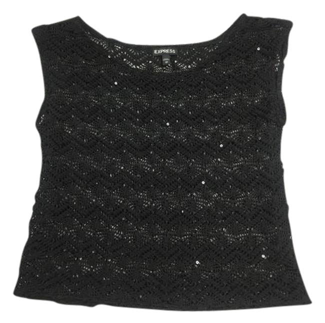 Preload https://img-static.tradesy.com/item/21850006/express-black-lace-with-sequins-sweaterpullover-size-2-xs-0-1-650-650.jpg