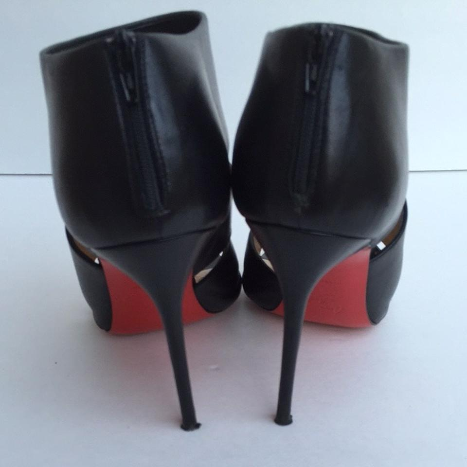 6c0d5ef76f15 Christian Louboutin Black Cachottiere Cutout Ankle Euro 38 1 2 Boots Booties  Size US 8.5 Regular (M