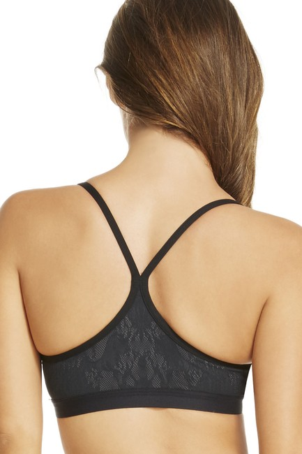Fabletics FABLETICS Snapdragon Reversible Sports Bra XXS Black Lace\Dark Grey Image 1