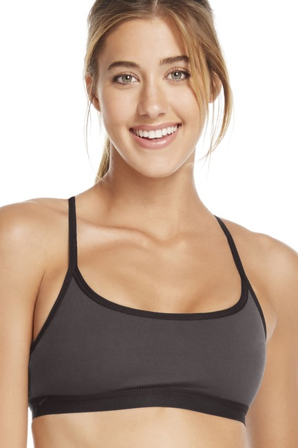 Fabletics FABLETICS Snapdragon Reversible Sports Bra XXS Black Lace\Dark Grey Image 2