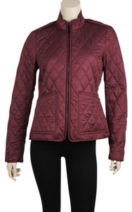 Burberry Casual Nylon Burgundy Jacket