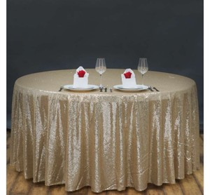 Champagne Gold Sequin | Table Decor Tablecloth