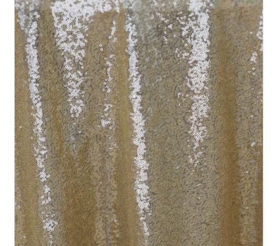 Champagne Gold Sequin | Table Decor Tablecloth Image 1