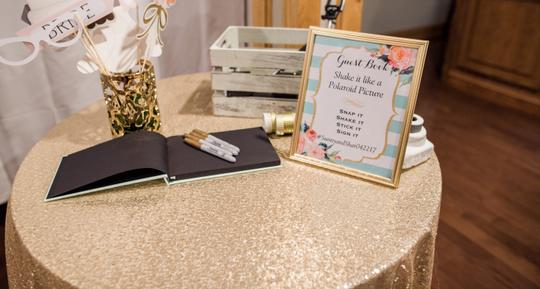 Champagne Gold Sequin | Table Decor Tablecloth Image 4