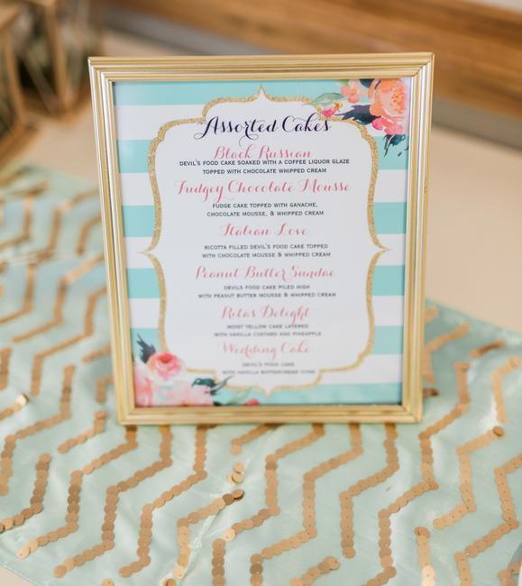 Item - Mint Green Gold 2 Sequin Table Runner Tablecloth