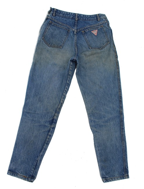 Guess Vintage High Rise Redone Re/Done Skinny Jeans-Acid Image 2