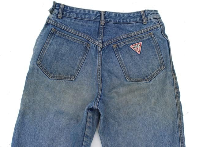 Guess Vintage High Rise Redone Re/Done Skinny Jeans-Acid Image 3