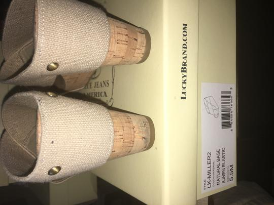 Lucky Brand Nude Wedges Image 1