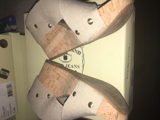 Lucky Brand Nude Wedges Image 2