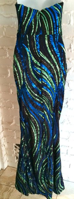 Wow Couture Designer Sequin Dress Image 2
