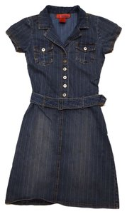 Hot Kiss short dress Denim Stretchy Flatering on Tradesy