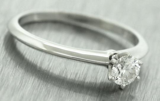 Tiffany & Co Ladies Genuine Tiffany&Co. Platinum Diamond Solitaire Engagement Ring Image 1