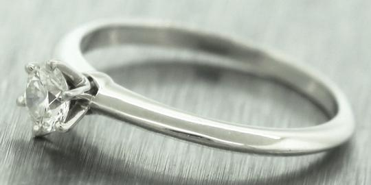 Tiffany & Co Ladies Genuine Tiffany&Co. Platinum Diamond Solitaire Engagement Ring Image 2