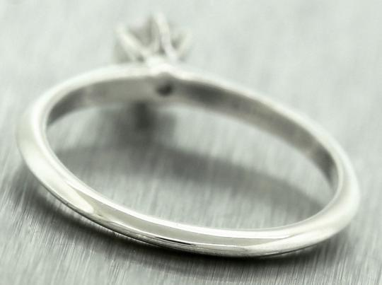 Tiffany & Co Ladies Genuine Tiffany&Co. Platinum Diamond Solitaire Engagement Ring Image 3