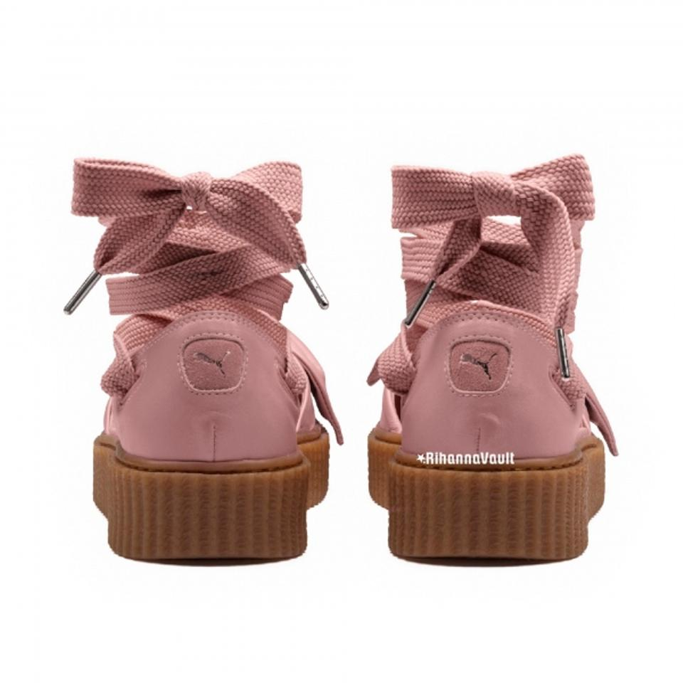 d1ba2823ce01 FENTY PUMA by Rihanna Pink Oatmeal Bow Creeper Sandals Size US 8 ...