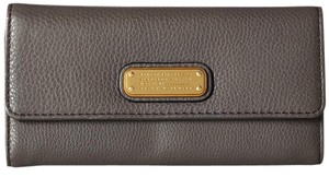 Marc by Marc Jacobs Marc Jacobs New Q Long Trifold Faded Aluminum Leather Wallet