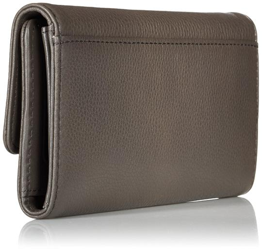 Marc by Marc Jacobs Marc Jacobs New Q Long Trifold Faded Aluminum Leather Wallet Image 1