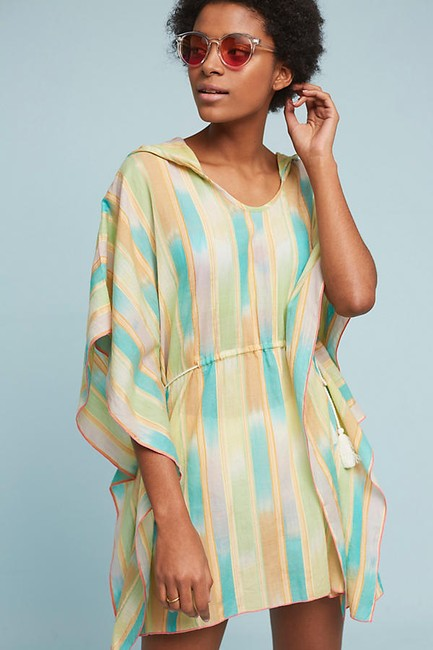 Anthropologie Kaftan Kimono Resort Swim Cover Beach Dress Tunic Image 1