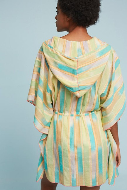 Anthropologie Kaftan Kimono Resort Swim Cover Beach Dress Tunic Image 3