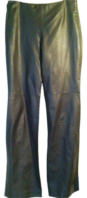 Ann Taylor Boot Cut Pants leather brown