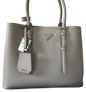 6aa6d506ba48 ... cheapest prada tote in light gray 184c3 7d9ee sweden prada saffiano  cuir double bag ...