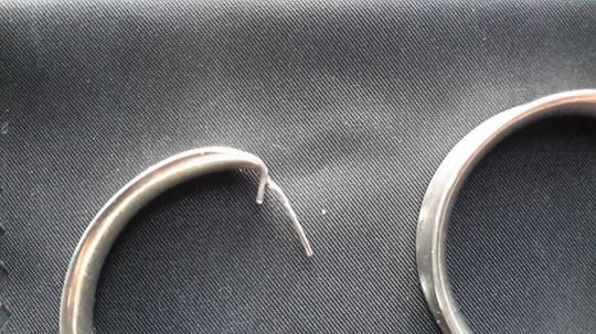 Other Sterling silver taxco Mexico half hoop earrings Image 3