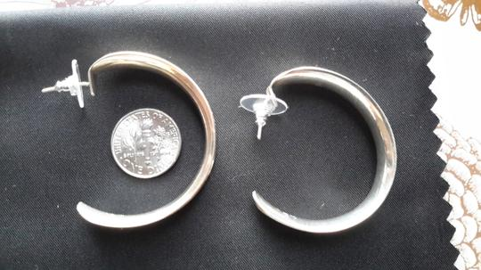 Other Sterling silver taxco Mexico half hoop earrings Image 4