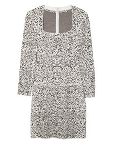 ALAÏA Leopard Fit And Flare Long Sleeve Dress