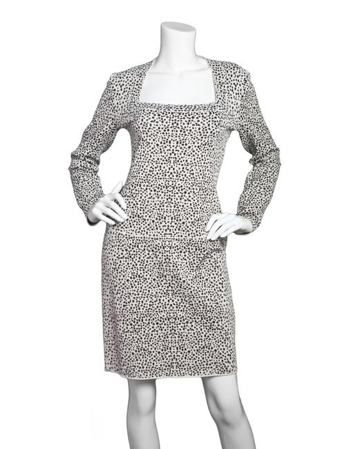ALAA Leopard Fit And Flare Long Sleeve Dress Image 1