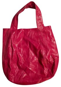 Beirn Jenna Snakeskin Tote in Pink