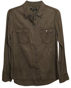 Buffalo David Bitton Button Down Shirt Olive