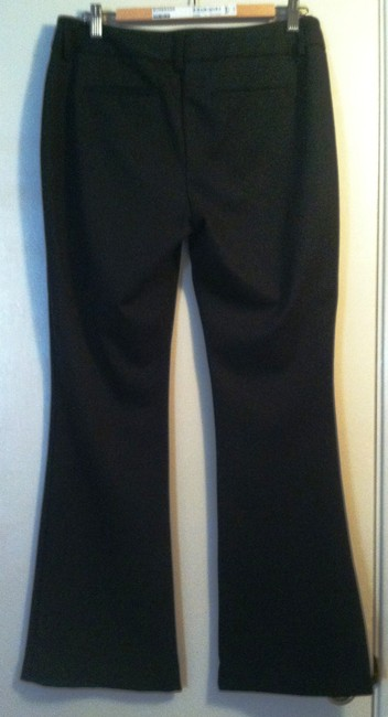 Chico's Size 1 Regular Rayon Nylon Trouser Pants Black