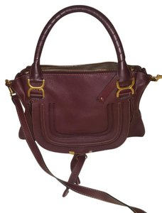 Chloé Classic Marcie Iconic New Tote in Burgundy