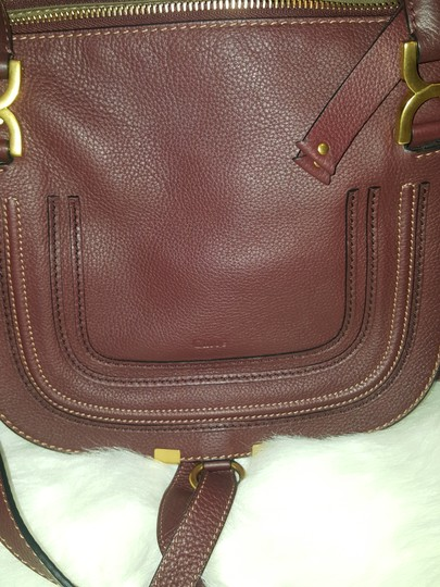 Chloé Classic Marcie Iconic New Tote in Burgundy Image 1