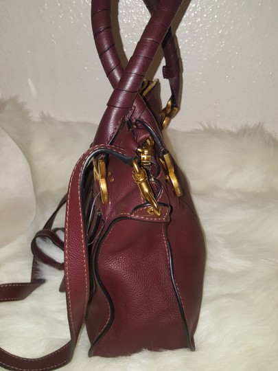 Chloé Classic Marcie Iconic New Tote in Burgundy Image 2