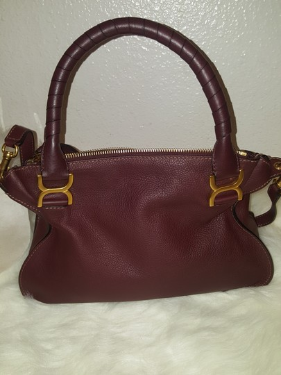 Chloé Classic Marcie Iconic New Tote in Burgundy Image 3