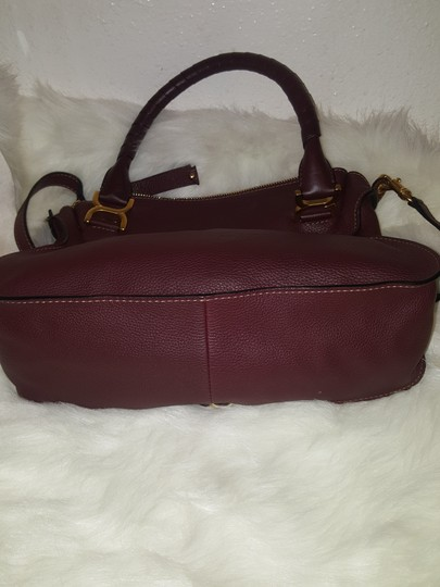 Chloé Classic Marcie Iconic New Tote in Burgundy Image 4