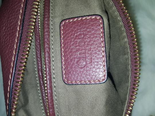 Chloé Classic Marcie Iconic New Tote in Burgundy Image 6