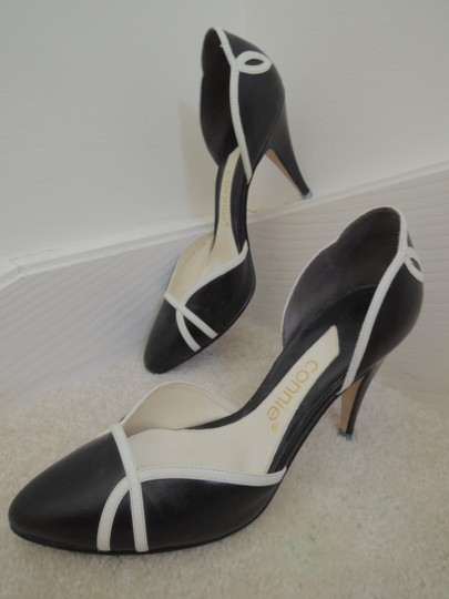 Connie black and white Pumps Image 1